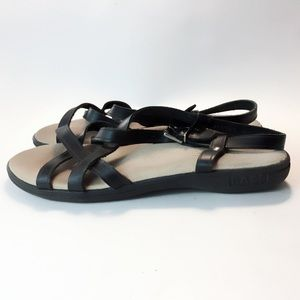 G.H. Bass & Co. Black Strappy Sandals